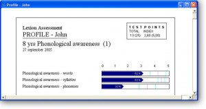 Example of student report